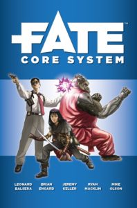 Cover of the Fate core rulebook