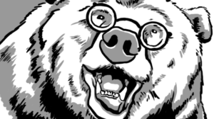 image of a jolly bear wearing round glasses