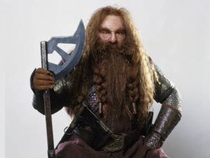 Picture of Gimli, the dwarf from the Lord of the Rings Movie