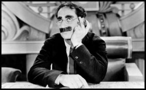 Picture of Groucho Marx looking wistful