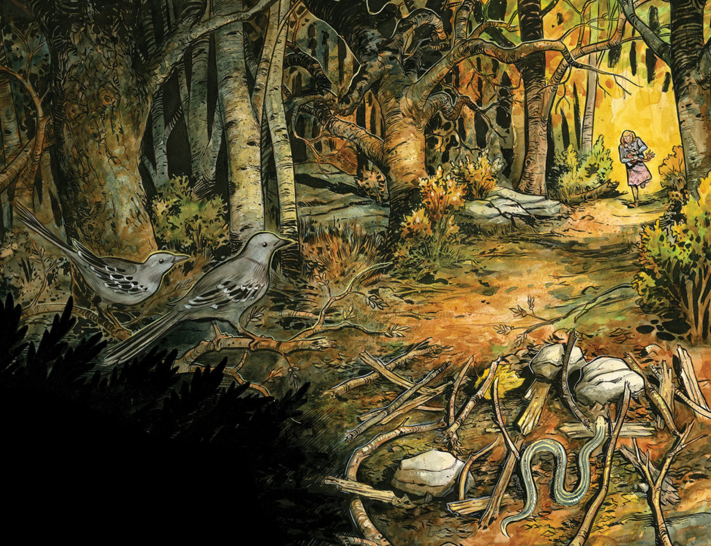 Interior art from the Harrow County Comic book